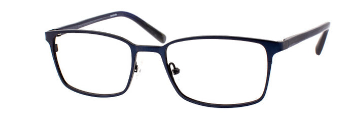 Side view of Steve prescription glasses frame in matte dark blue