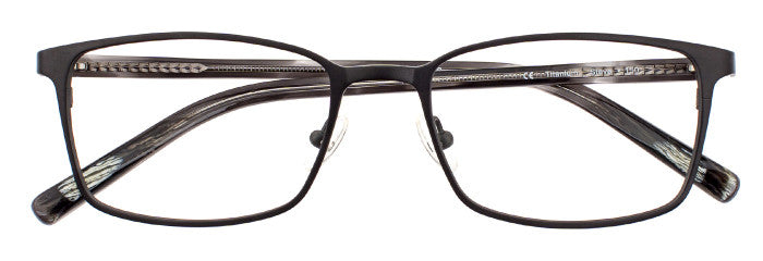 Steve prescription glasses in matte black
