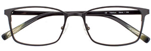 Steve prescription glasses frame in matte black and green khaki