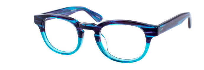Teddy prescription glasses frame in dark blue and arctic