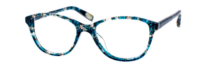 Tiffany prescription glasses frame in blue mosaic