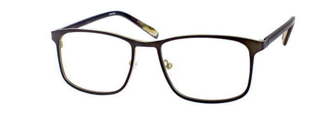 Tizio prescription glasses frame in matte dark olive tortoise