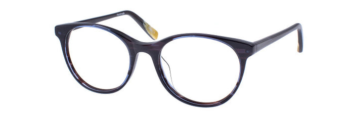 Front view of Umiko prescription glasses frame in midnight blue