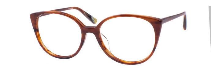 Side view of the Usagi prescription glasses frame in caramel