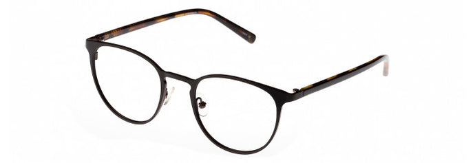 Side view of the Vabrice prescription glasses frame in matte black