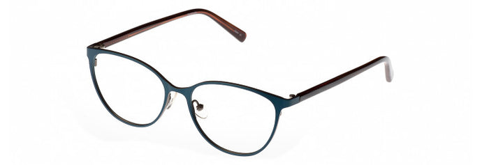 Side view of the Vaiana prescription glasses frame in teal and silver
