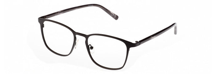 Side view of the Valentin prescription glasses frame in grey and light grey