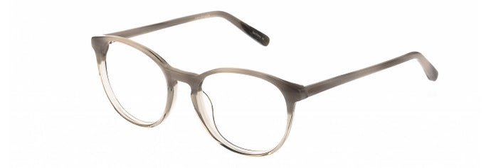 Side view of Vera prescription glasses frame in grey marble