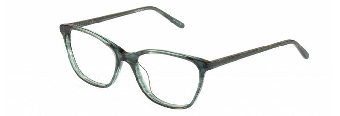 Side view of the Virginia prescription glasses frame in turquoise