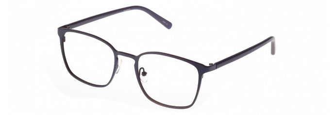 Side view of the Volker prescription glasses frame in black and grey