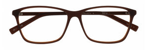 Front view of the Waverly prescription glasses frame in matte auburn