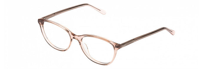 Side view of the Wendy prescription glasses frame in pink crystal