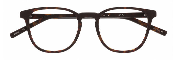 Front view of the Weston prescription glasses frame in black