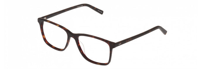 Side view of the Winston prescription glasses frame in matte dark tortoise