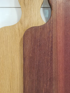 Wood bread cutting boards with different finishes