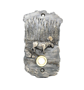 Moose Scenic Doorbell silver | Timber Bronze | Oregon