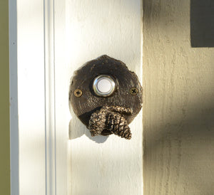 Lodgepole (Closed Cone) Log End Doorbell (2) | Timber Bronze | Oregon