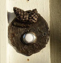Load image into Gallery viewer, Lodgepole (Closed Cone) Log End Doorbell (1) | Timber Bronze | Oregon