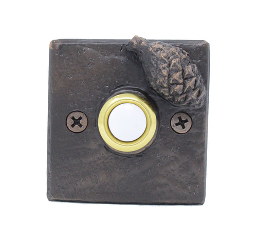 Square Lodgepole Cone Doorbell | Timber Bronze | Oregon