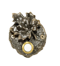 Load image into Gallery viewer, Maple Leaf Log End Doorbell (2) | Timber Bronze | Oregon