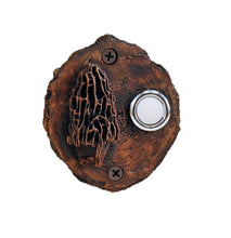 Load image into Gallery viewer, Mushroom Log End Doorbell | Timber Bronze | Oregon