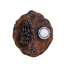 Mushroom Log End Doorbell | Timber Bronze | Oregon