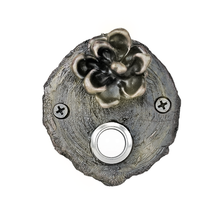 Load image into Gallery viewer, Pinyon Cone Log End Doorbell | Timber Bronze | Oregon