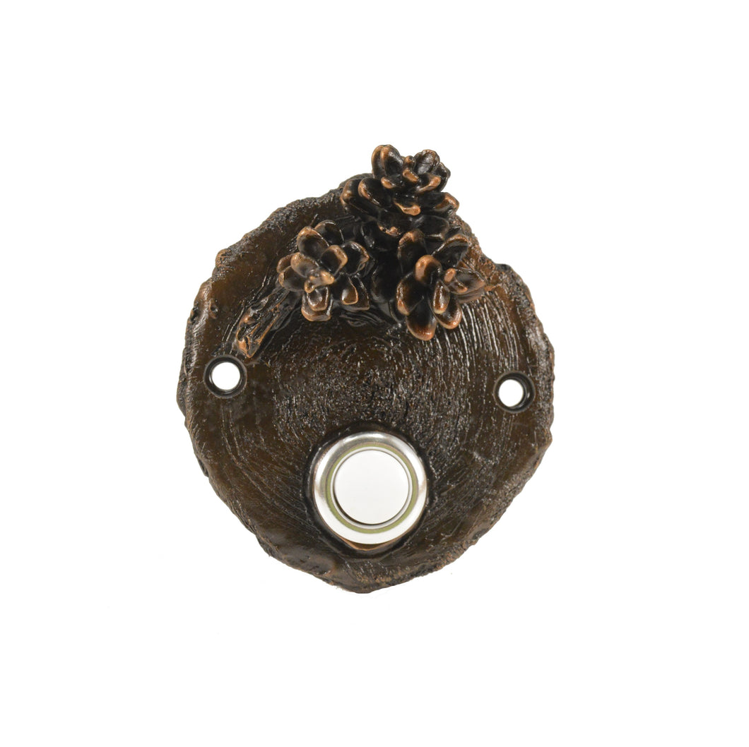 Log End Western Hemlock Doorbell | Timber Bronze | Oregon