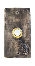 Load image into Gallery viewer, Rectangle Lodgepole Pine Cone Doorbell | Timber Bronze | Oregon