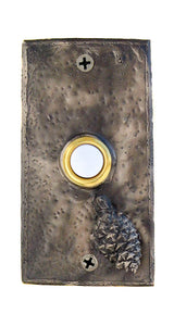 Rectangle Lodgepole Pine Cone Doorbell | Timber Bronze | Oregon