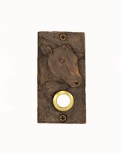 Load image into Gallery viewer, Rectangular Bronze Cow Doorbell