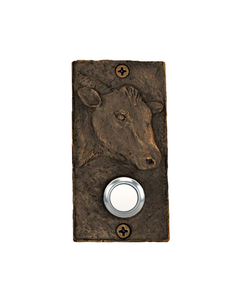 Rectangular Bronze Cow Doorbell