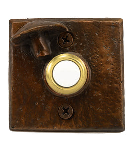 Square Toadstool Doorbell | Timber Bronze | Oregon