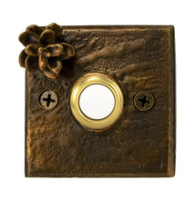 Load image into Gallery viewer, Square Hemlock Cone Doorbell | Timber Bronze | Oregon
