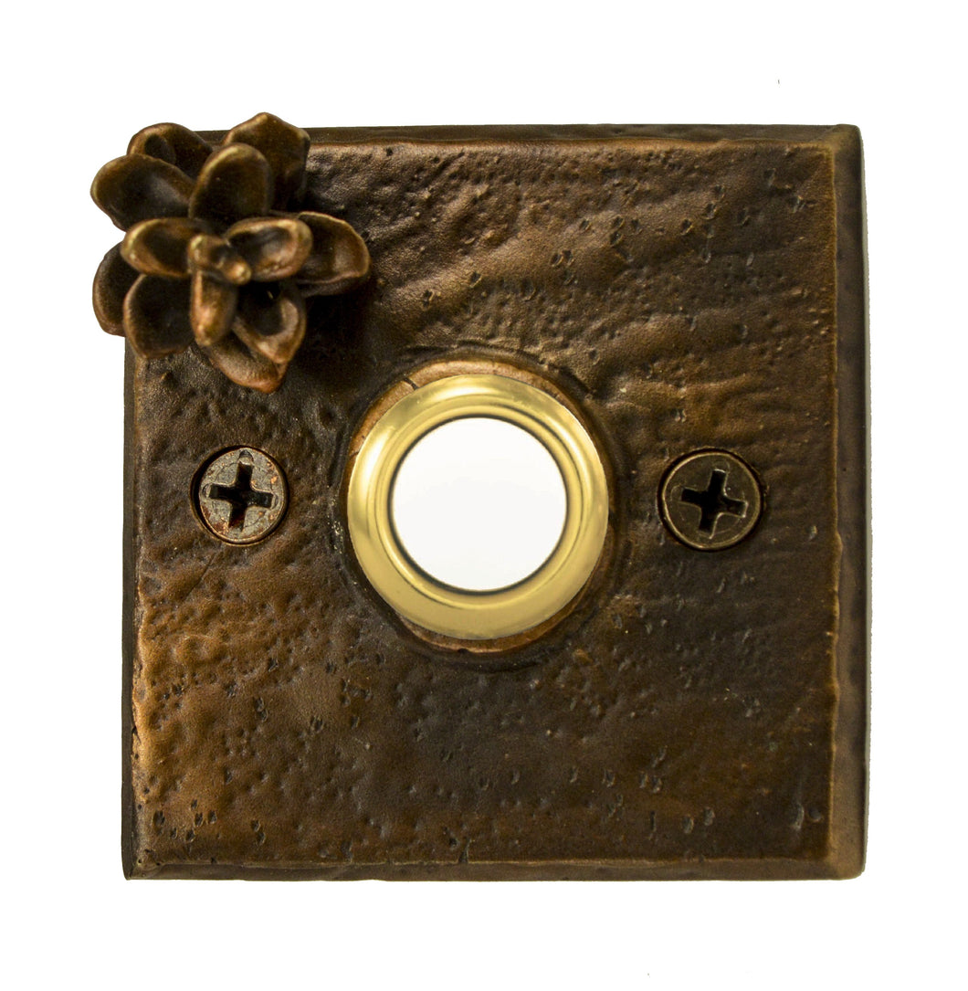 Square Hemlock Cone Doorbell | Timber Bronze | Oregon