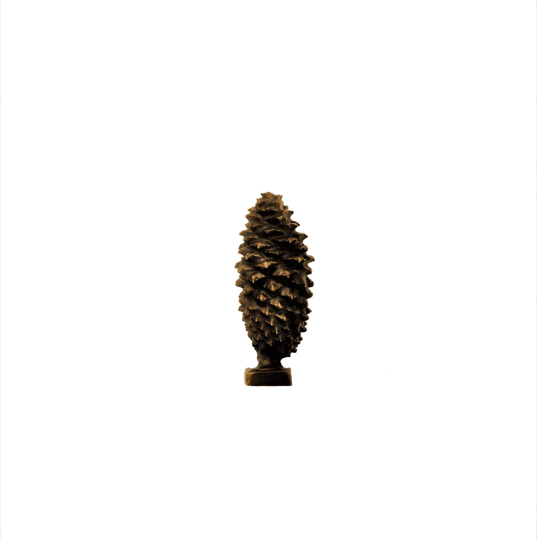 XL Closed Lodgepole Cone Finial | Timber Bronze | Oregon