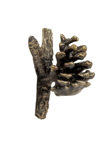 Lodgepole Pine Cone Y Branch Pull (1) | Timber Bronze | Oregon