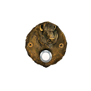 Log End Buffalo Doorbell | Timber Bronze | Oregon