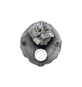Log End Moose Doorbell | Timber Bronze | Oregon