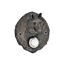 Load image into Gallery viewer, Log End Wolf Doorbell | Timber Bronze | Oregon