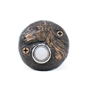 Round Horse Doorbell | Timber Bronze | Oregon