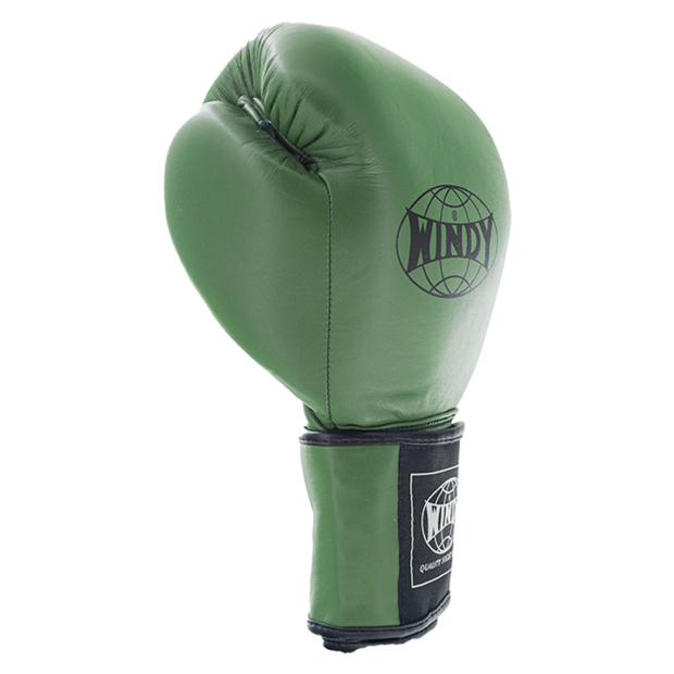 Proline Leather Boxing Gloves - Army Green - Windy Fight Gear
