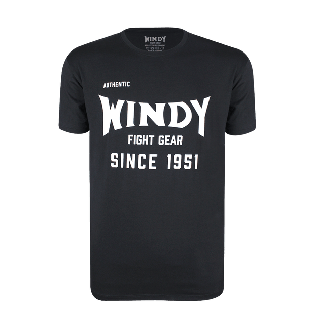 Classic Windy Black T-Shirt - Windy Fight Gear