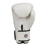 Classic Synthetic Leather Boxing Gloves - White - Windy Fight Gear