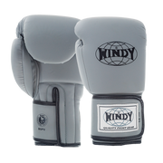 Proline Synthetic Leather Boxing Gloves - Grey - Windy Fight Gear