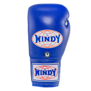 Lace-Up Boxing Gloves - Blue - Windy Fight Gear