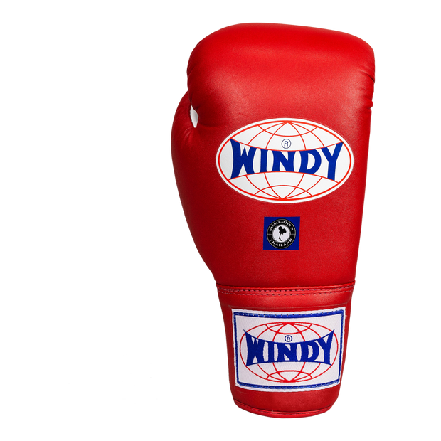 Lace-Up Boxing Gloves - Red - Windy Fight Gear