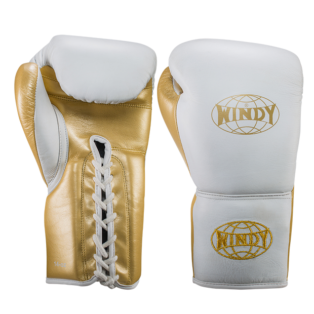Pro Boxing Set - White Gold - Windy Fight Gear