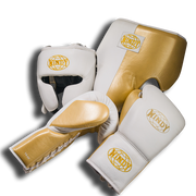Pro Boxing Sparring Set - White Gold - Windy Fight Gear