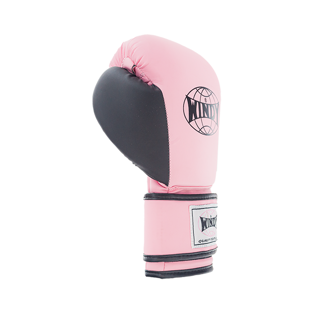 Proline Synthetic Leather Boxing Gloves - Pink Black - Windy Fight Gear